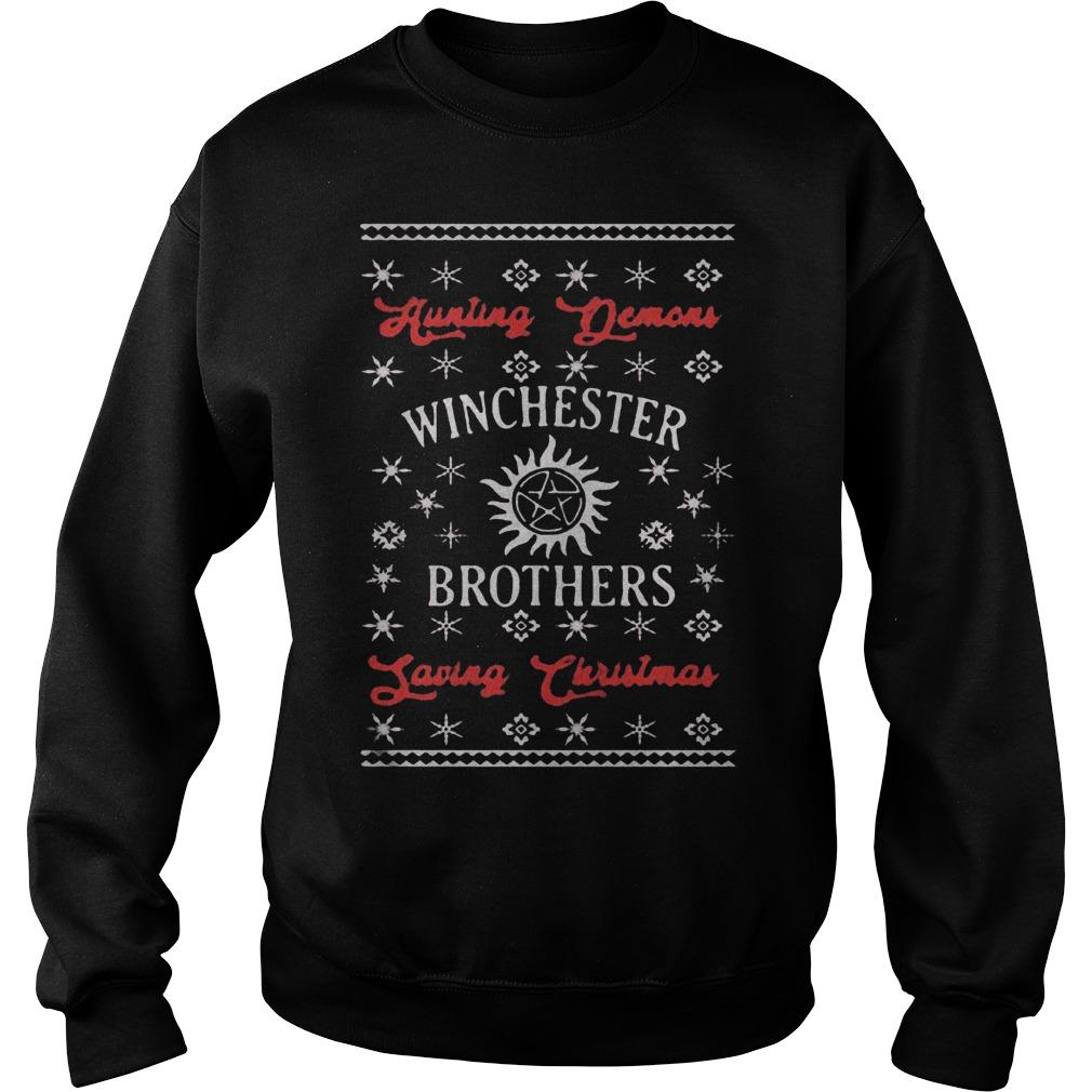 Hunting Demons Winchester Brothers Saving Christmas Sweater