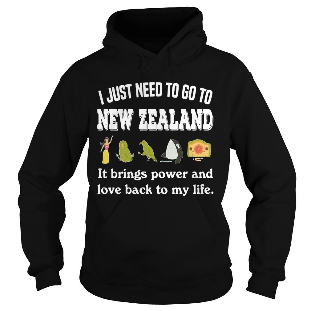 I Just Need To Go To New Zealand It Brings Power And Love Back To My Life Hoodie