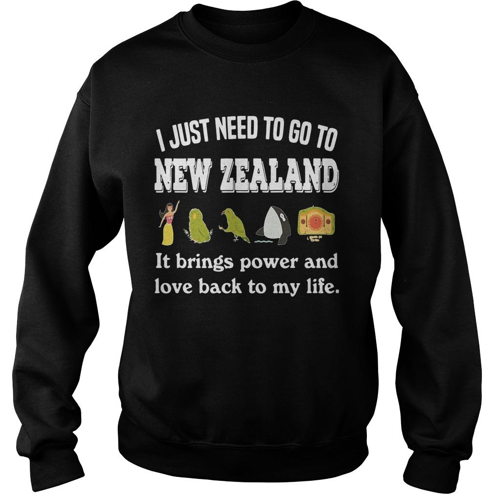 I Just Need To Go To New Zealand It Brings Power And Love Back To My Life Sweater