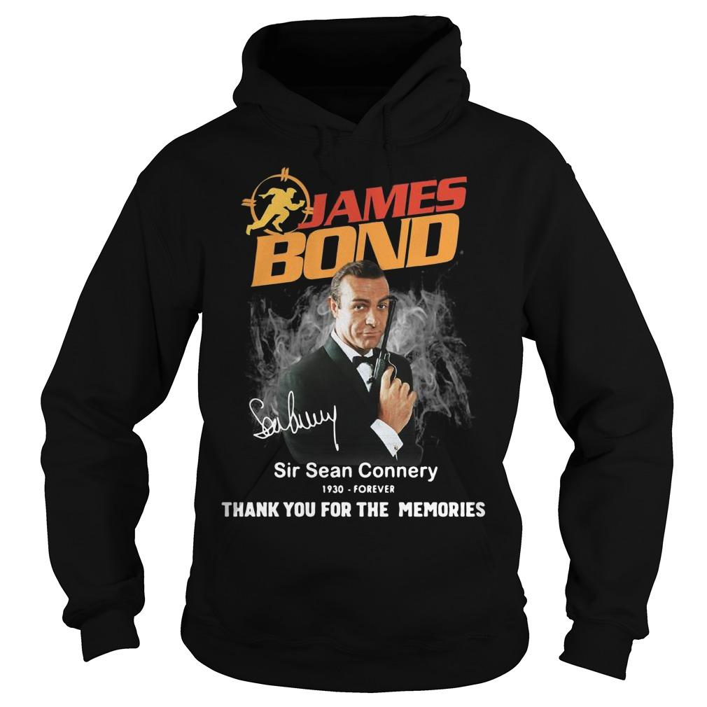 James Bond Sir Sean Connery 1930 Forever Thank You For The Memories Hoodie