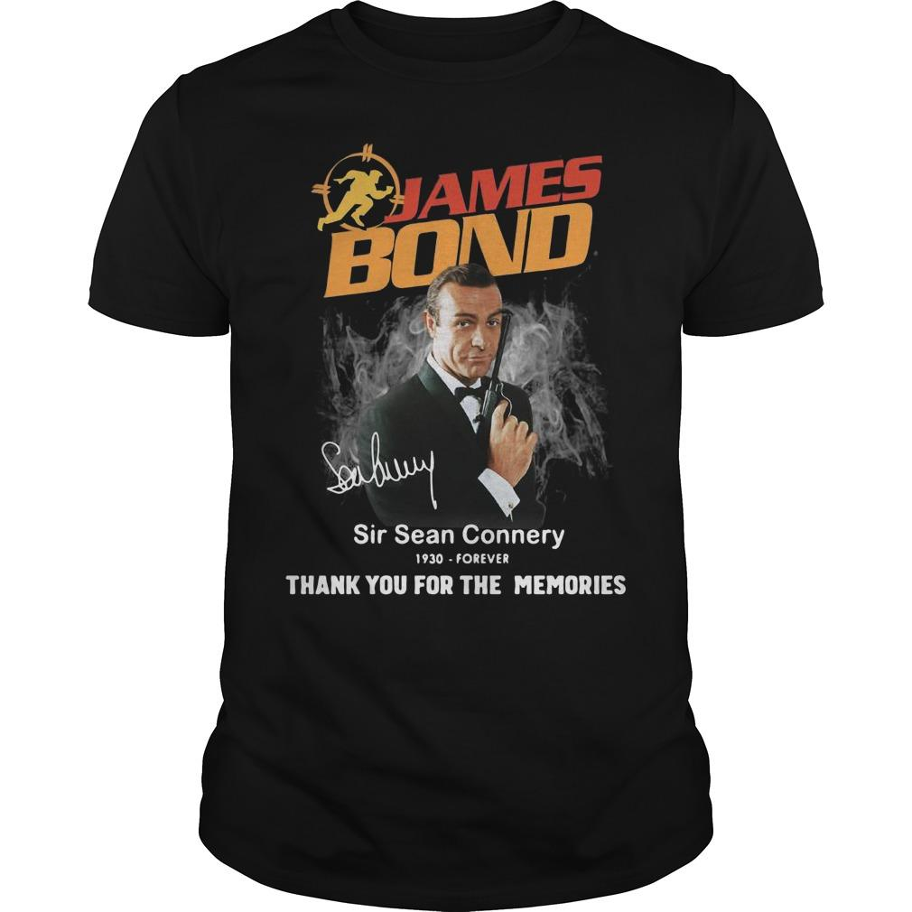 James Bond Sir Sean Connery 1930 Forever Thank You For The Memories Shirt