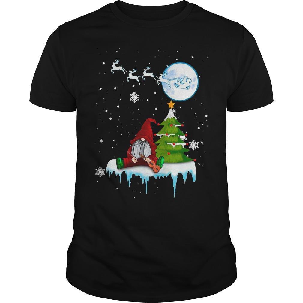 Merry Christmas Gnome Playing Violin Shirt