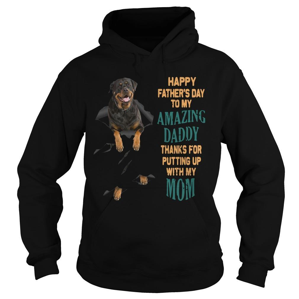 Rottweiler Happy Father's Day To My Amazing Daddy Hoodie