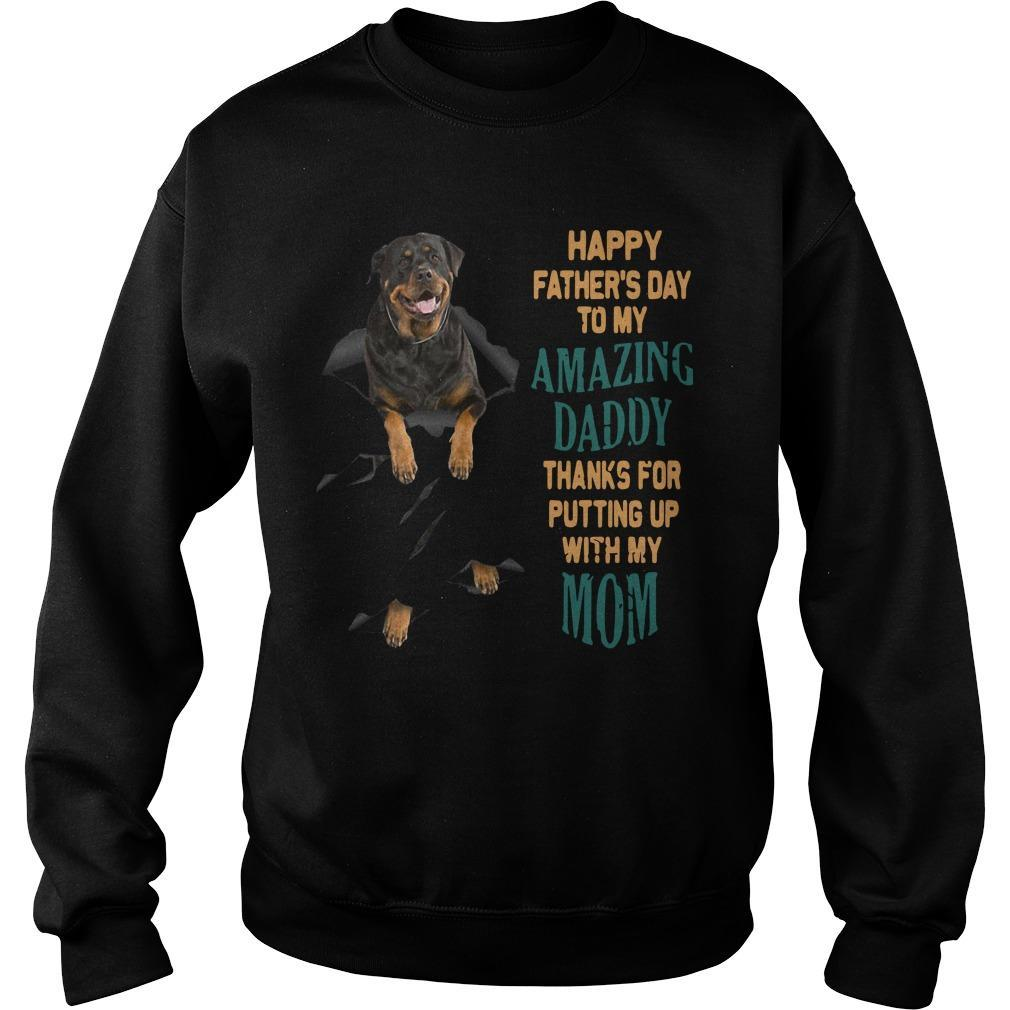 Rottweiler Happy Father's Day To My Amazing Daddy Sweater