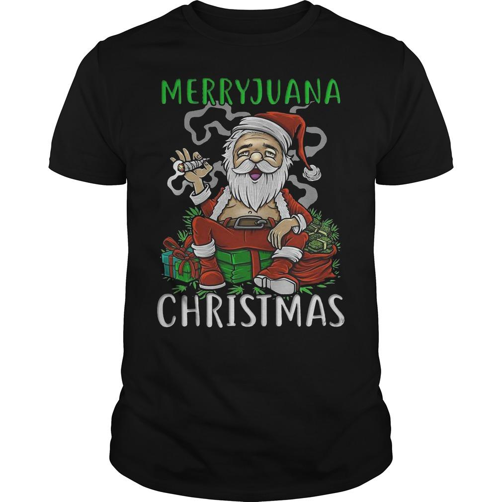 Satan Claus Marijuana Christmas Shirt