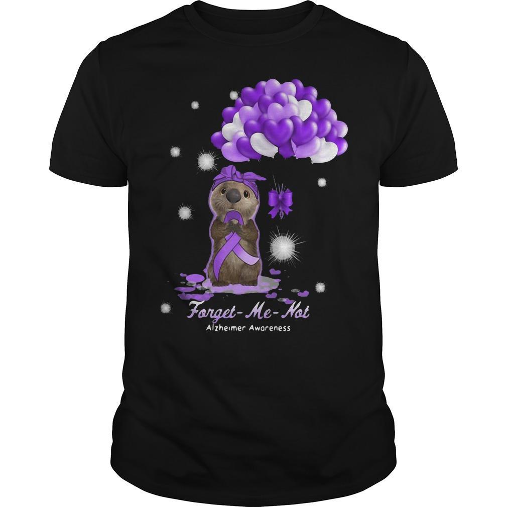 Sloth Forget Me Not Alzheimer Awareness Shirt