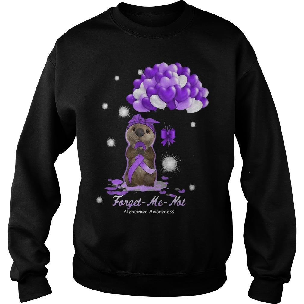 Sloth Forget Me Not Alzheimer Awareness Sweater