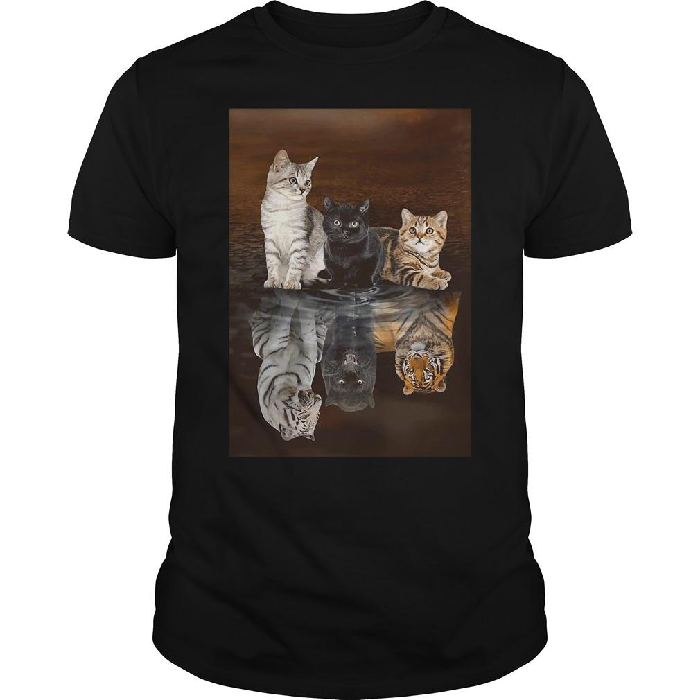 Three Cat Tiger Reflections Shirt