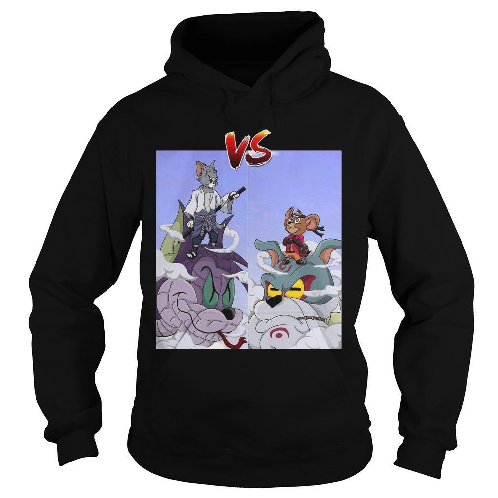 Tom Uchiha Vs Jerry Uzumaki Hoodie