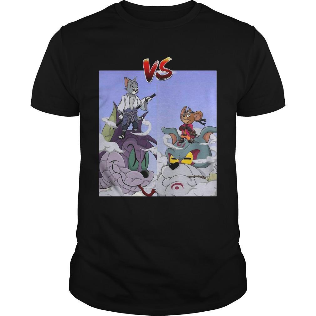 Tom Uchiha Vs Jerry Uzumaki Shirt