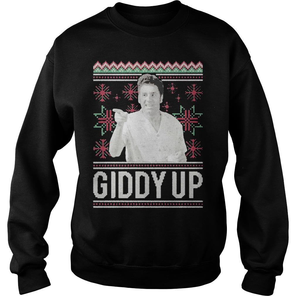 Ugly Christmas Giddy Up Sweater