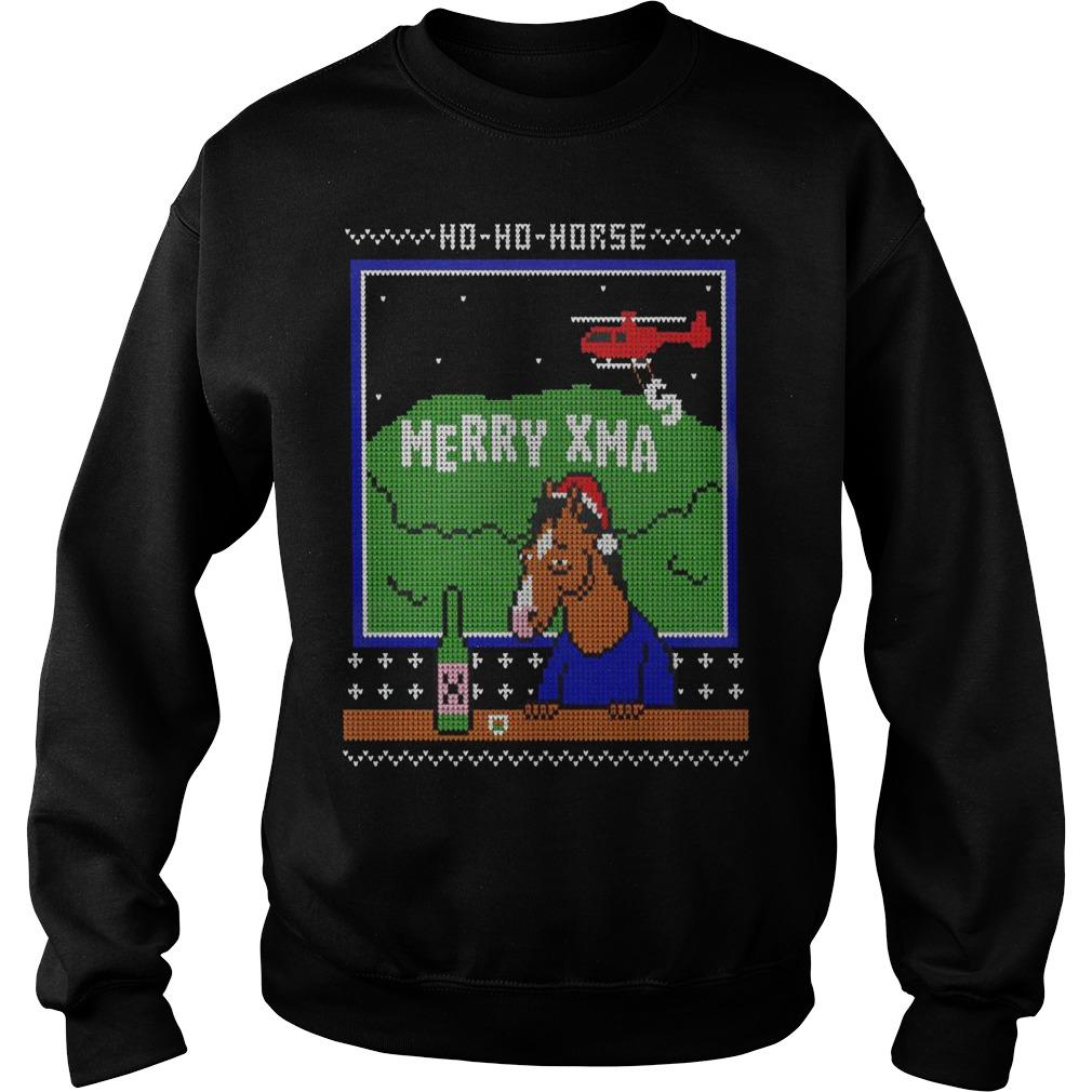 Ugly Christmas Ho Ho Horse Merry Xmas Sweater