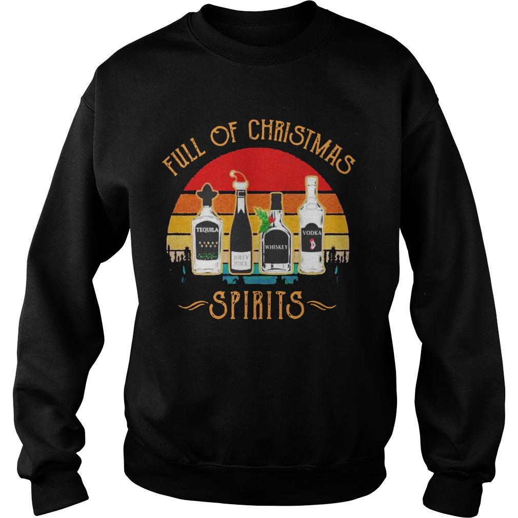 Vintage Wine Full Of Christmas Spirits Sweater