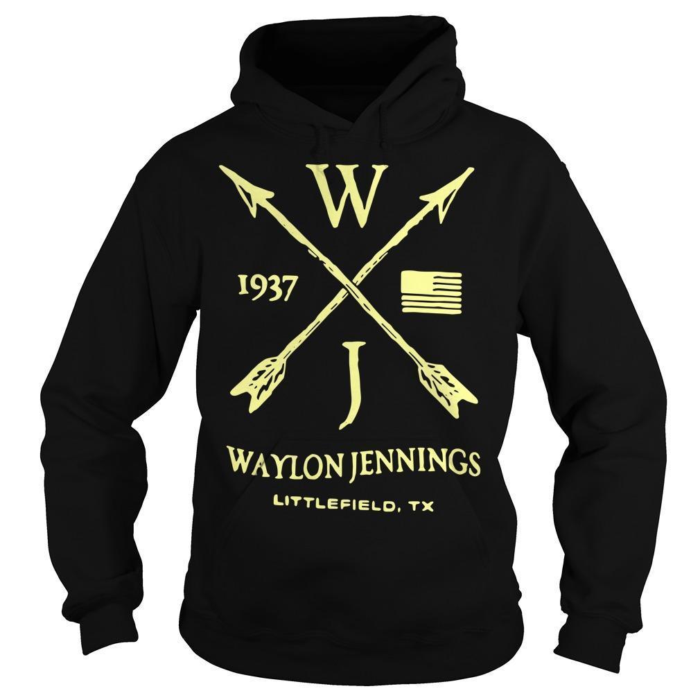 Wj 1937 Waylon Jennings Littlefield 1937 Hoodie