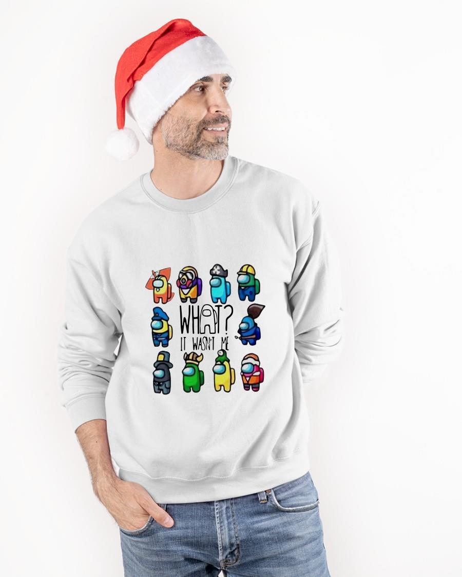 Among Us What It Wasn't Me Funny Sweater