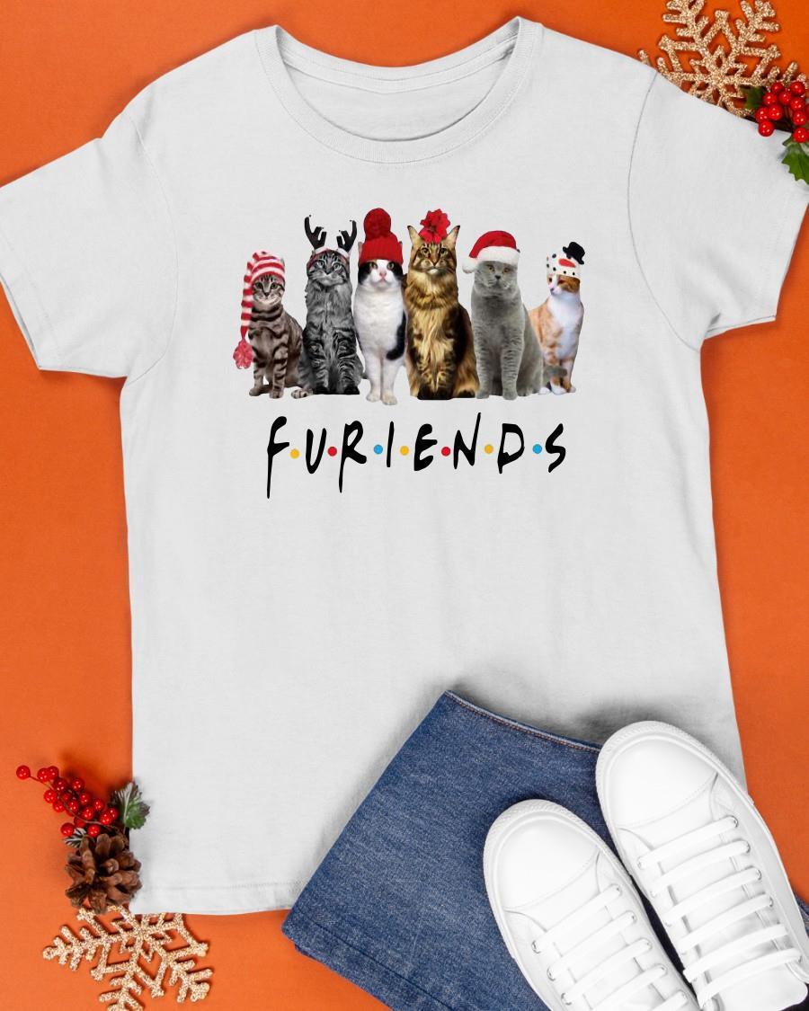 Christmas Cats Santa Furiends Shirt