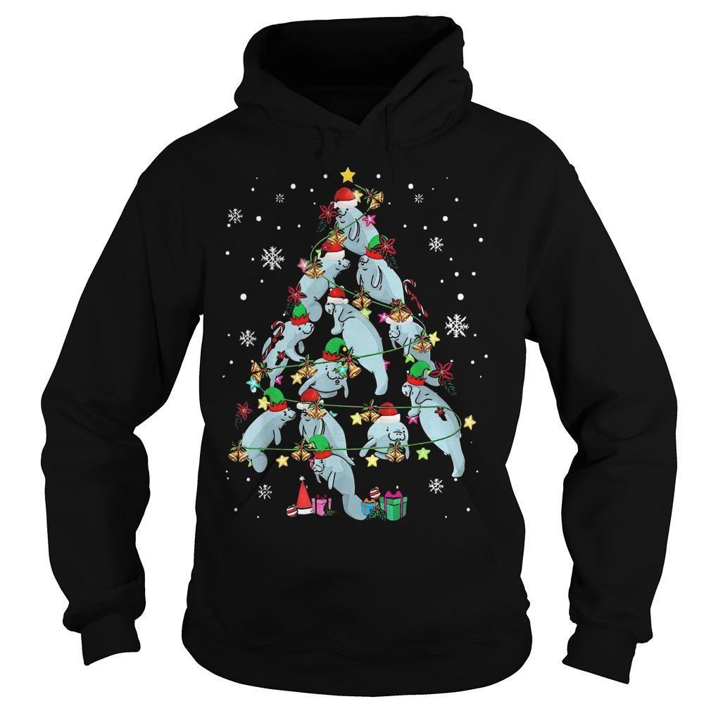 Hippopotamus Tree Merry Christmas Gift Hoodie