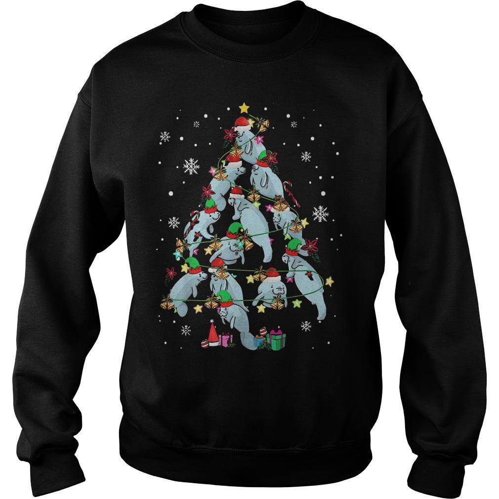 Hippopotamus Tree Merry Christmas Gift Sweater