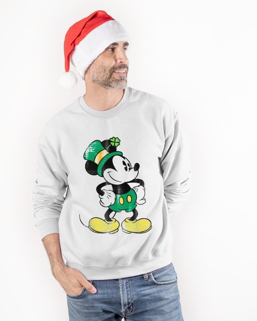 Mickey Green St Patricks Standing Lucky Sweater