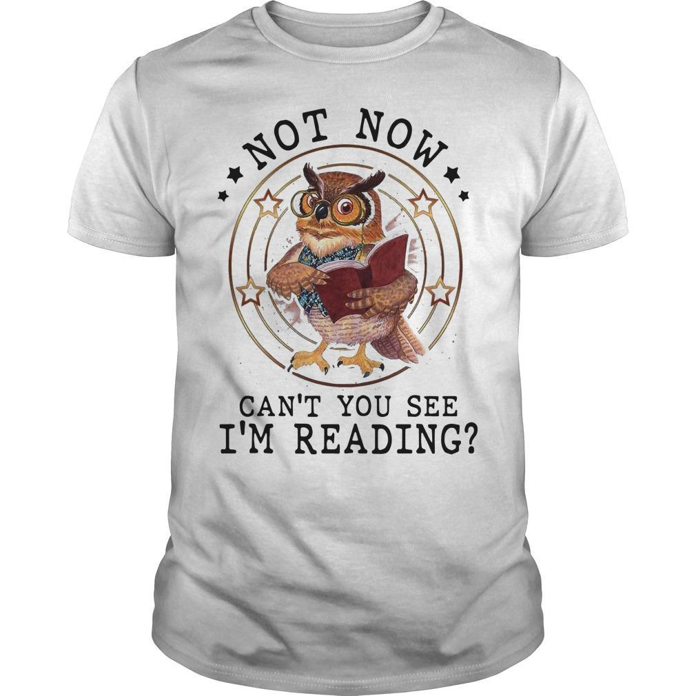 Not Now Can't You See I'm Reading Shirt