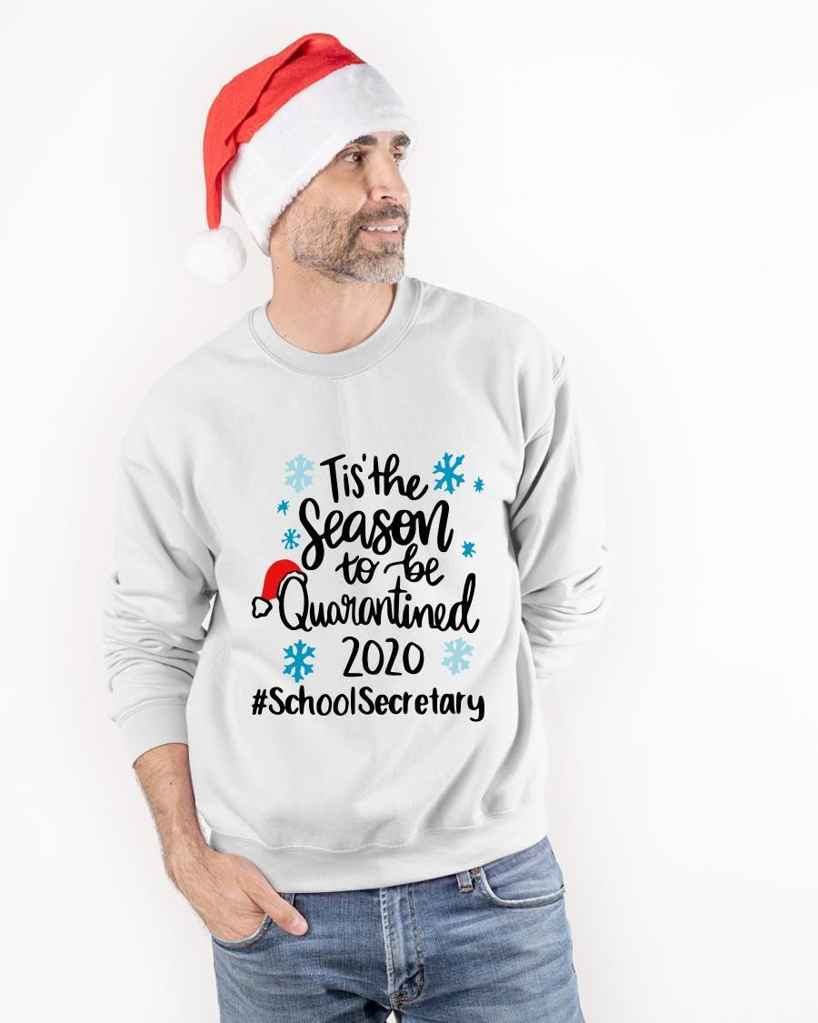 Tis The Season To Be Quarantined 2020 School Secretary Sweater