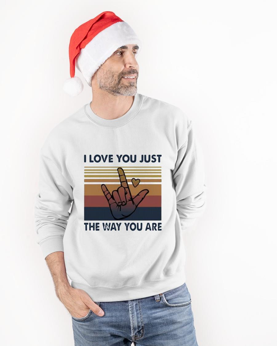 Vintage I Love You Just The Way You Are Sweater