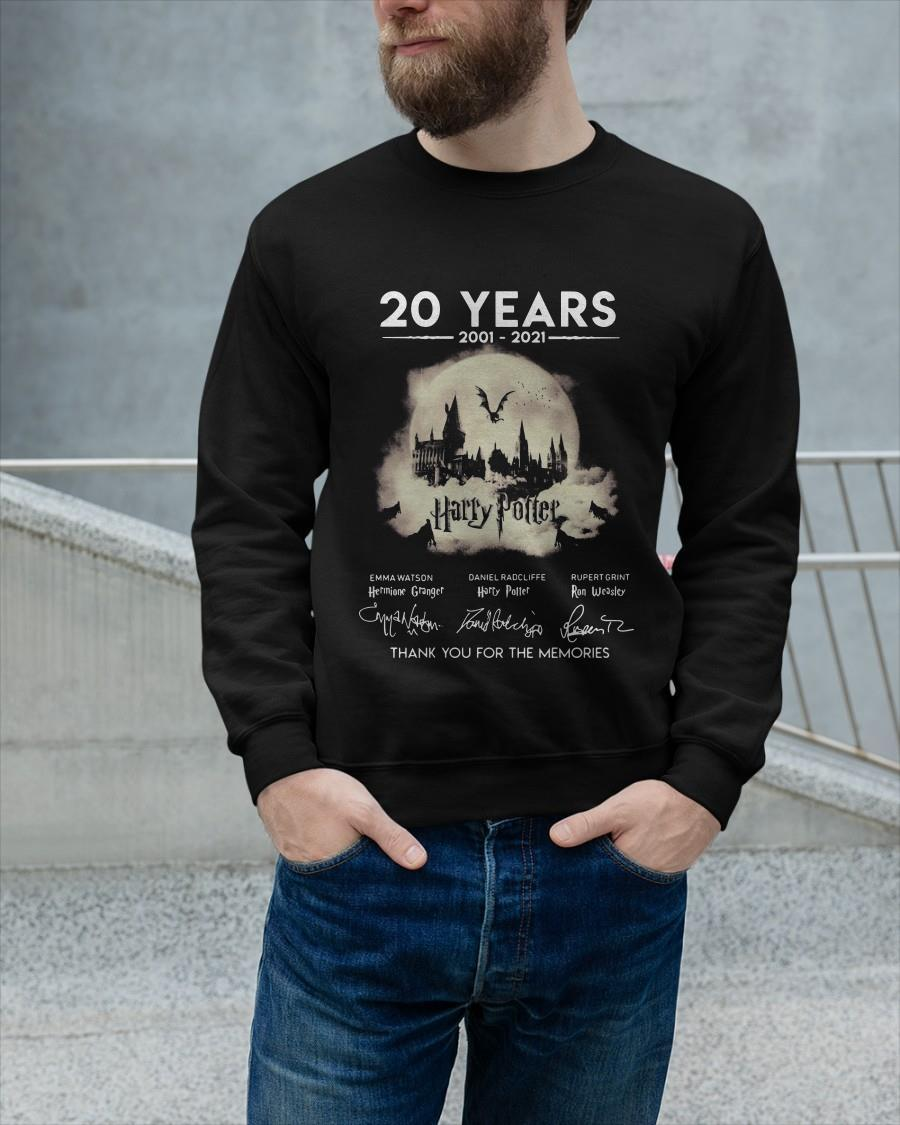 20 Years 2001 2021 Harry Potter Signatures Thank You For The Memories Sweater