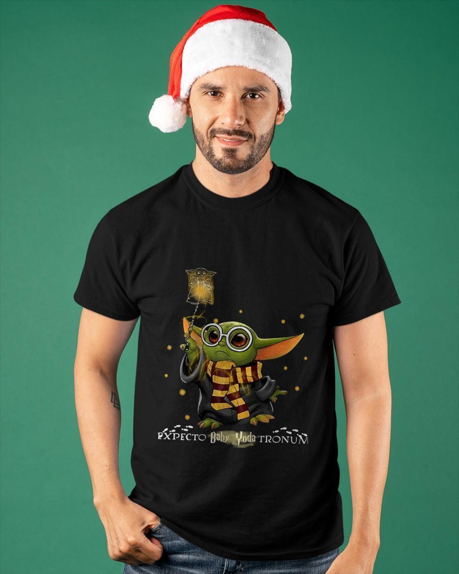 Baby Yoda Expecto Baby Yoda Tronun Harry Potter Shirt
