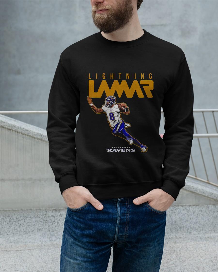 Baltimore Ravens Lightning Lamar Jackson Sweater