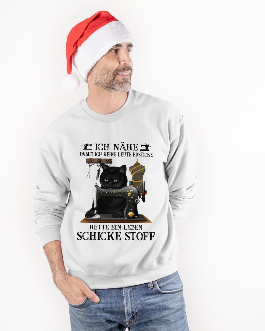 Black Cat Ich Nähe Damit Ich Keine Leute Ersticke Rette Ein Leben Sweater