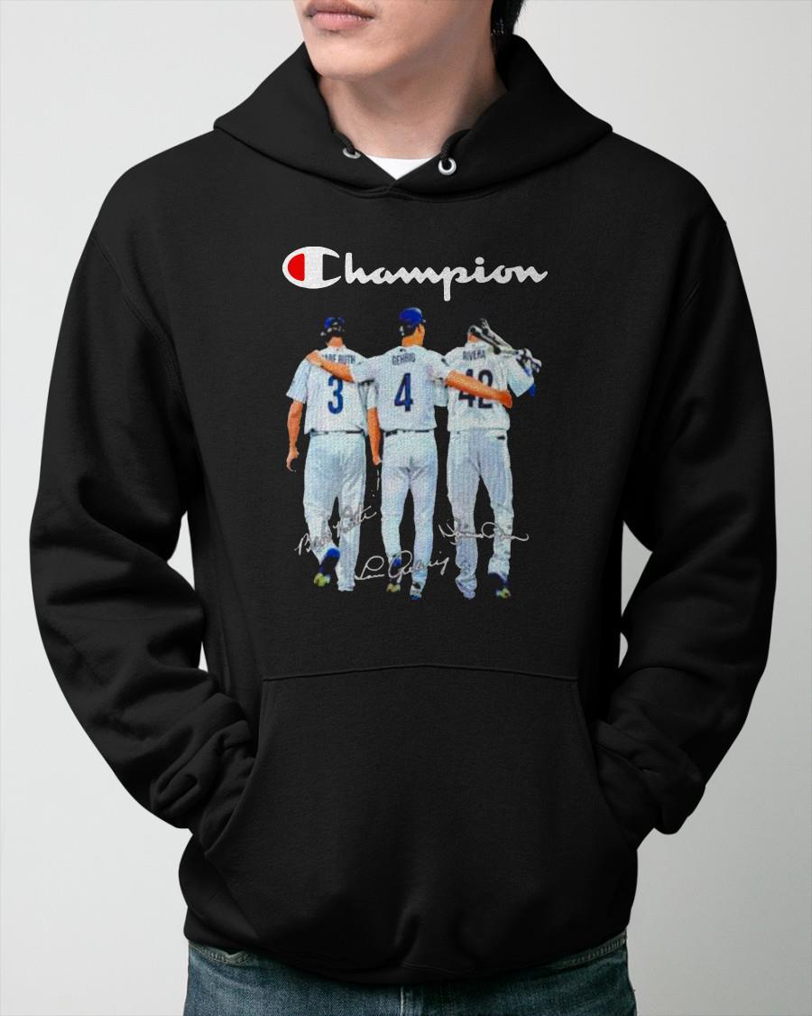 Champion Kansas City Chiefs Babe Ruth And Gehrig And Rivera Hoodie