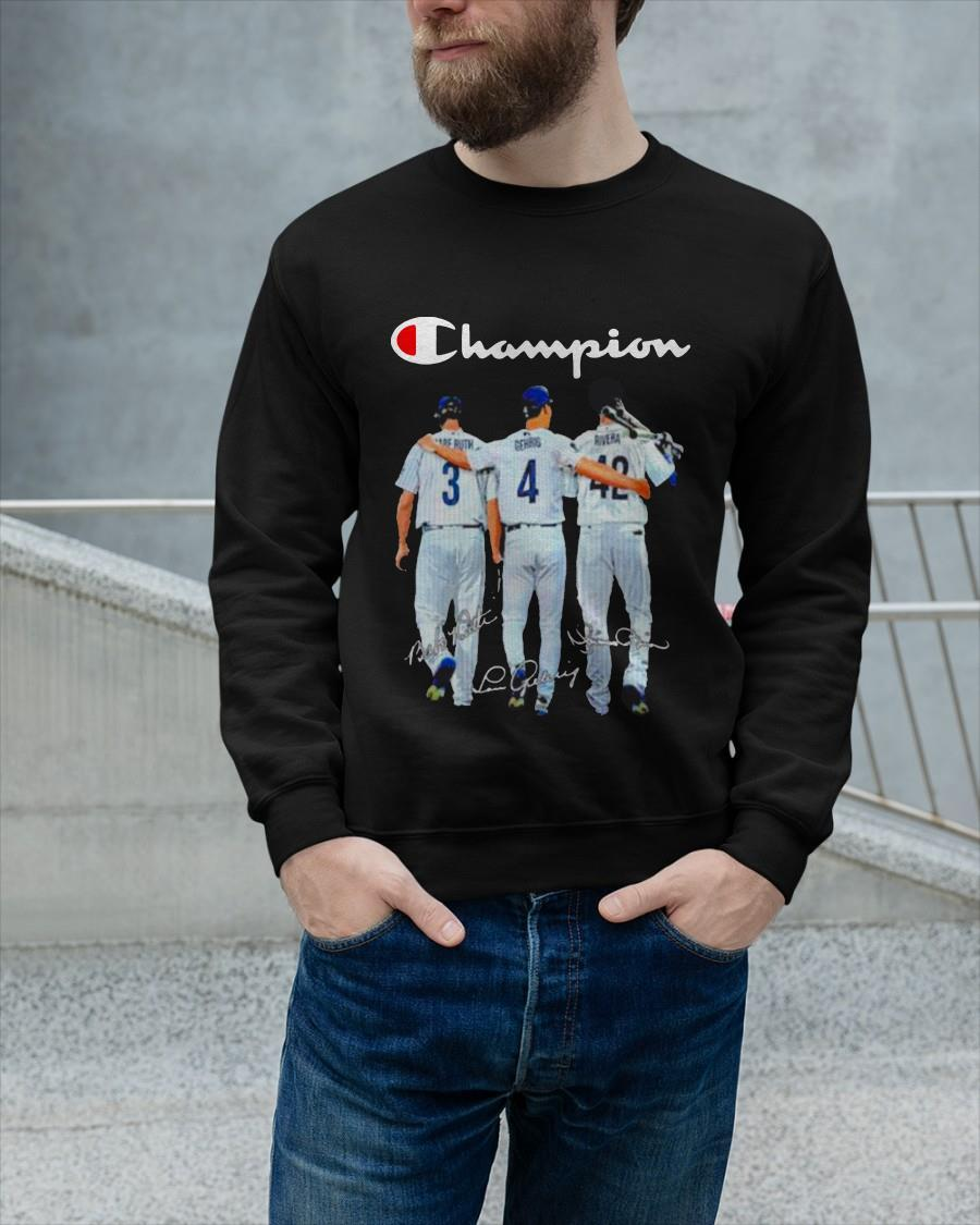 Champion Kansas City Chiefs Babe Ruth And Gehrig And Rivera Sweater