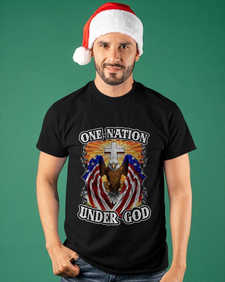 Eagles American Flag One Nation Under God Shirt