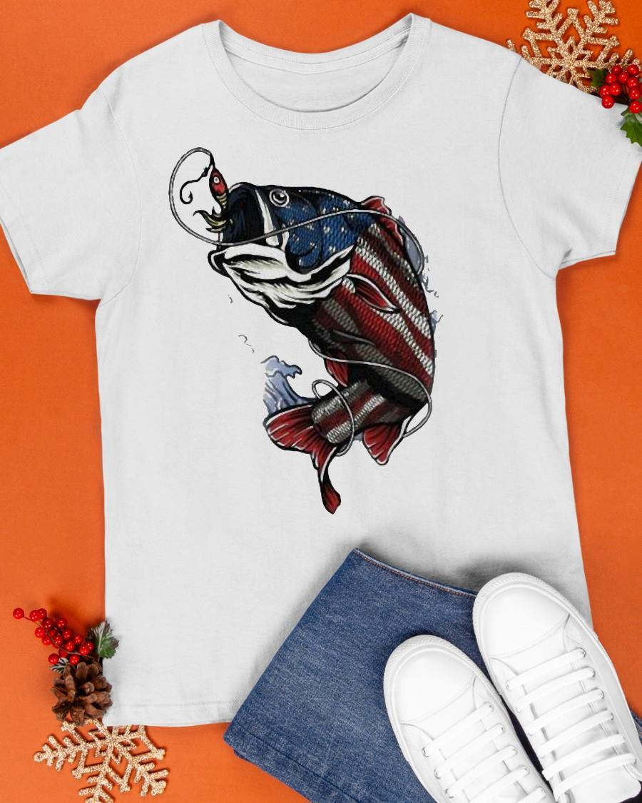 Fishing American Flag 2021 Shirt