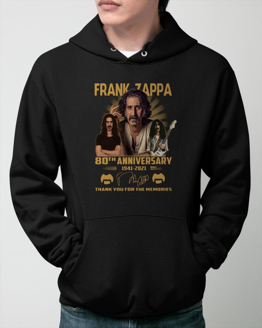 Frank Zappa 80th Anniversary 1941 2021 Signature Thank You For The Memories Hoodie