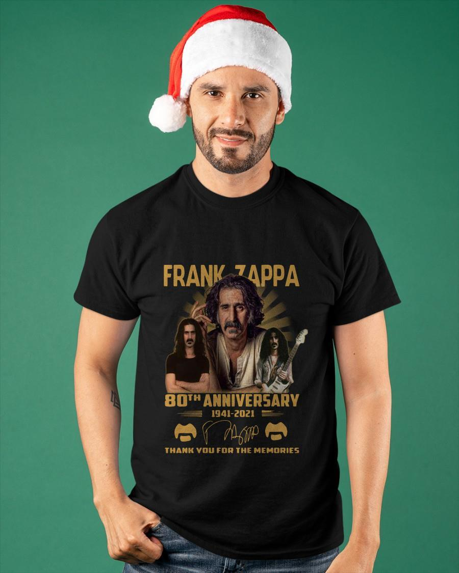 Frank Zappa 80th Anniversary 1941 2021 Signature Thank You For The Memories Shirt