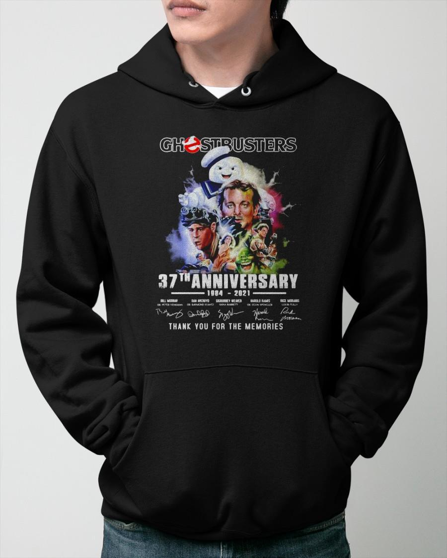Ghostbusters 37th Anniversary 1984 2021 Signatures Thank You For The Memories Hoodie