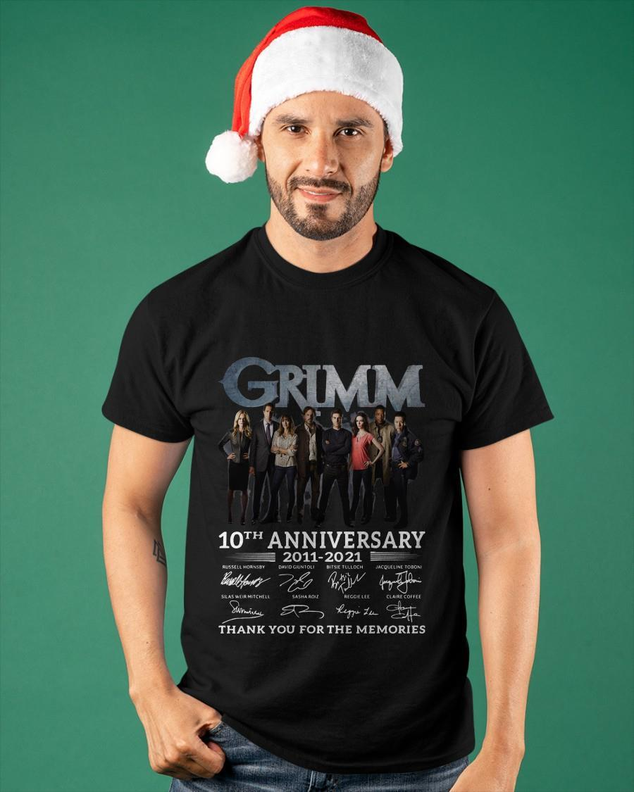 Grimm 10th Anniversary 2011 2021 Thank You For The Memories Signatures Shirt