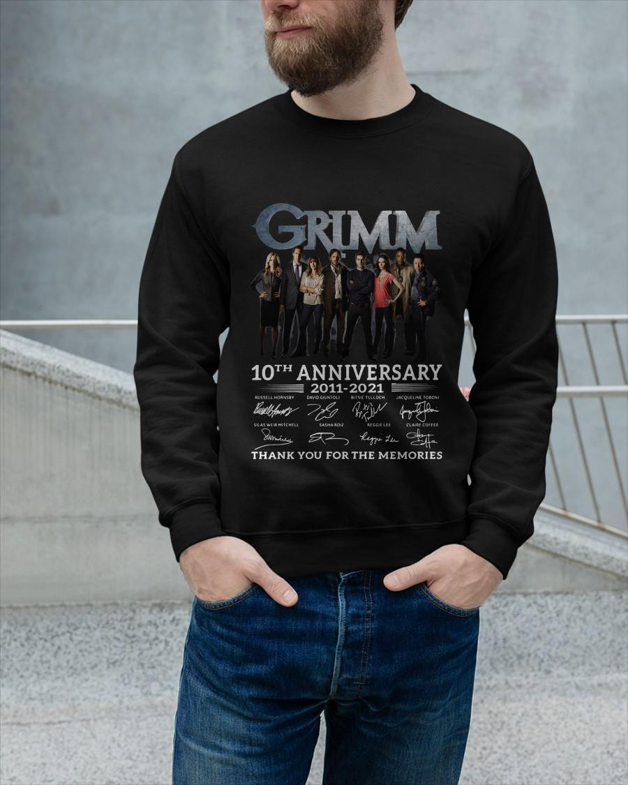 Grimm 10th Anniversary 2011 2021 Thank You For The Memories Signatures Sweater