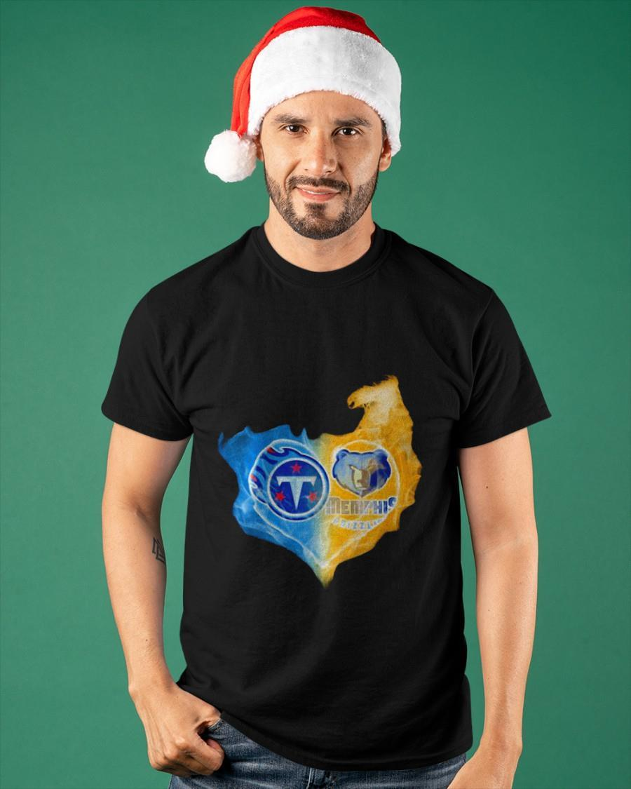 Ice And Fire Heart Tennessee Titans And Memphis Grizzlies Shirt
