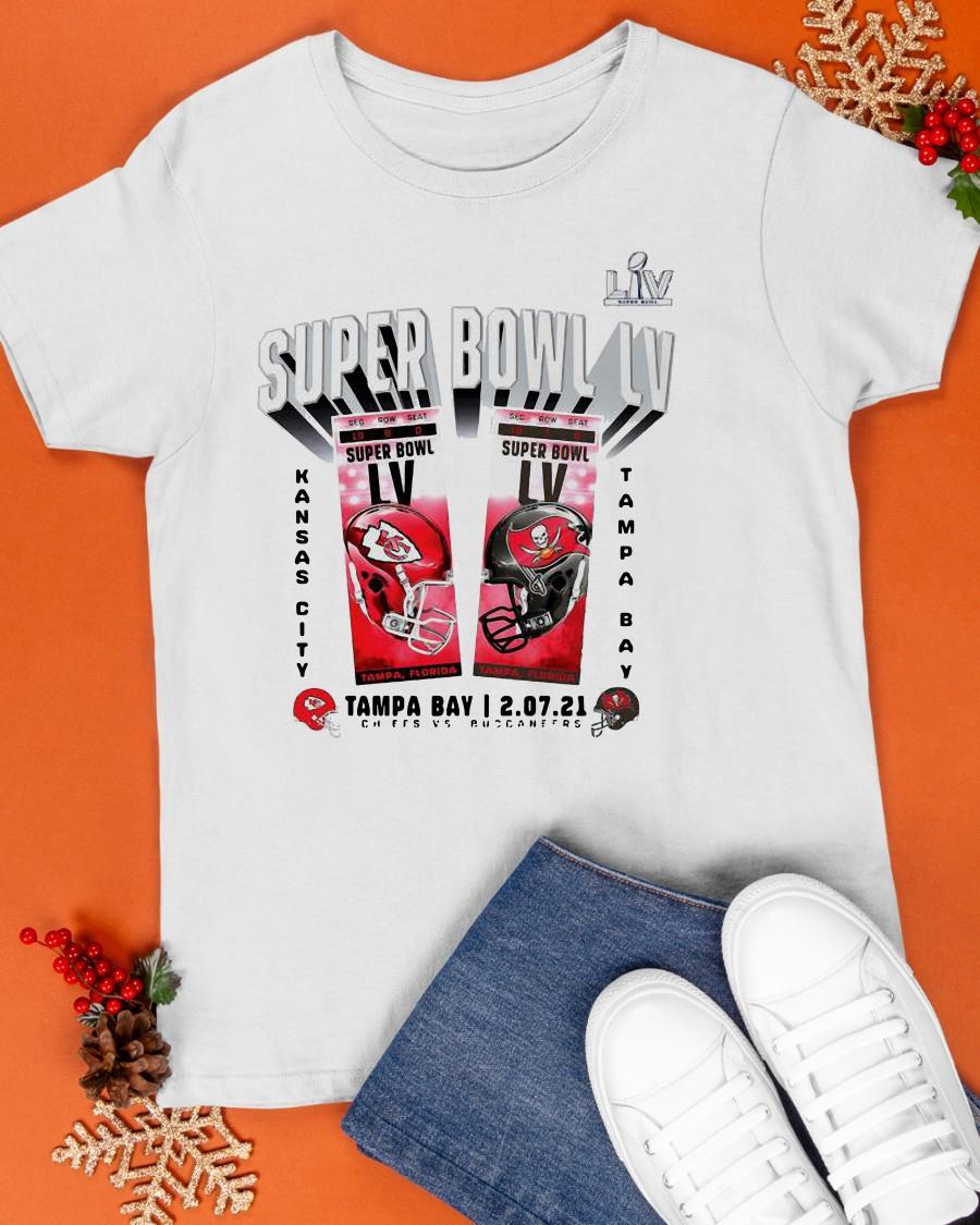 Liv Super Bowl Lv Kansas City Vs Tampa Bay Chiefs 2 07 21 Shirt