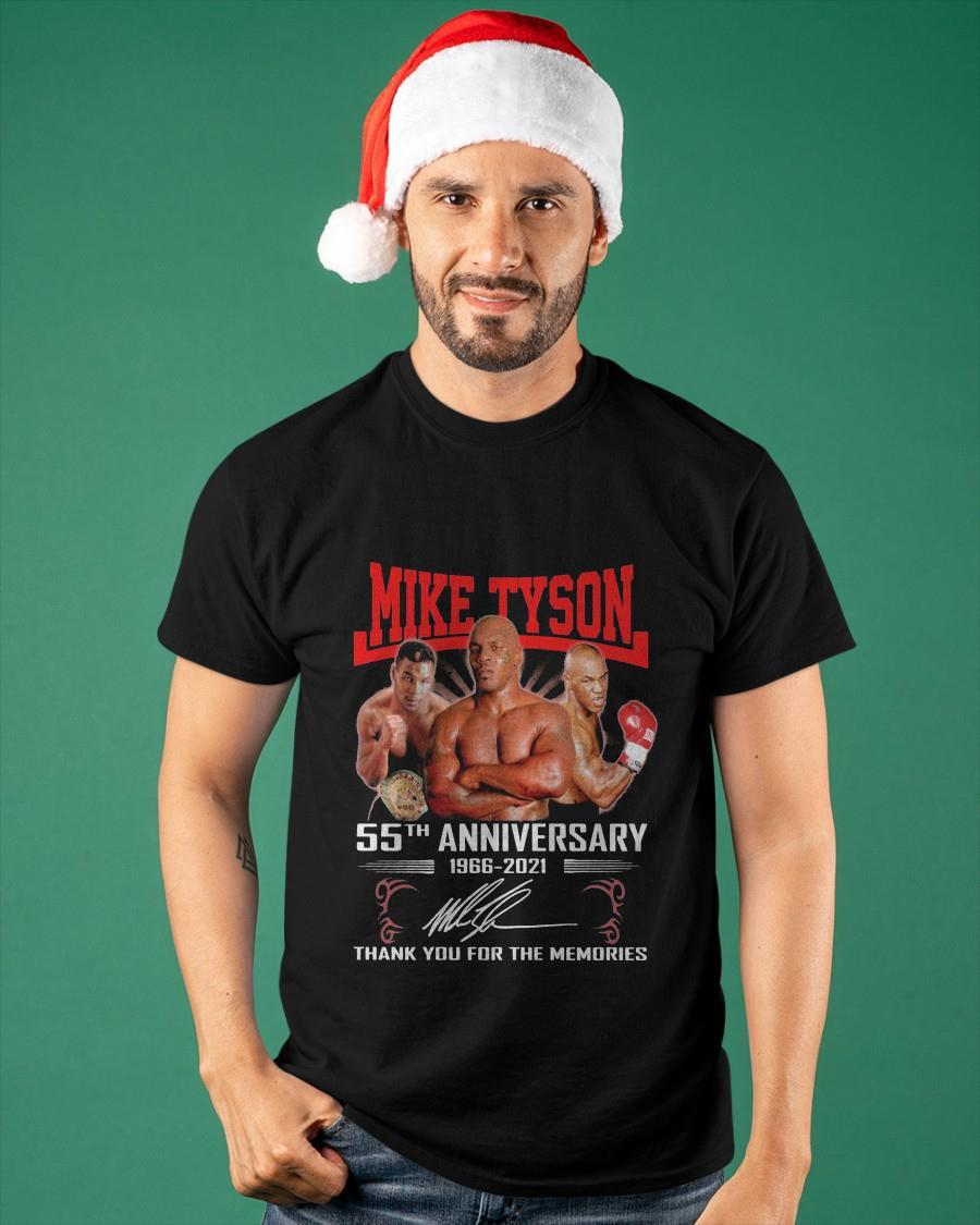 Mike Tyson 55th Anniversary 1966 2021 Signature Thank You For The Memories Shirt