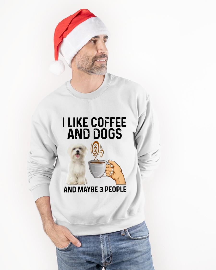 Shih Tzu I Like Coffee And Dogs And Maybe 3 People Sweater