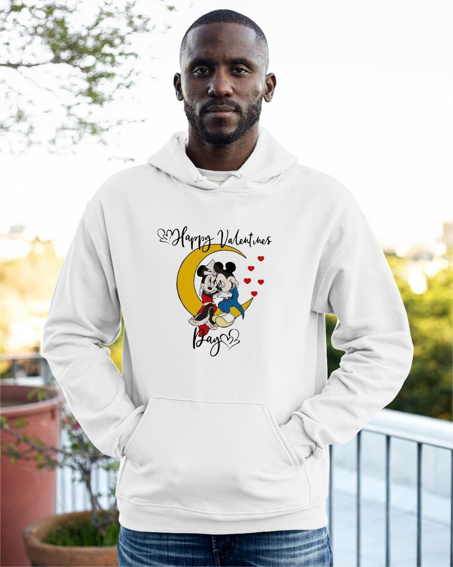 Valentine's Day Mickey Mouse And Minnie Mouse Happy Valentines Day Hoodie