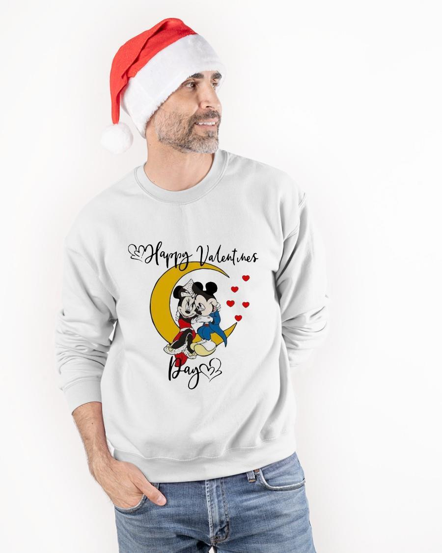 Valentine's Day Mickey Mouse And Minnie Mouse Happy Valentines Day Sweater