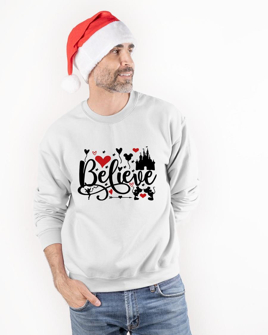 Valentine Day Mickey Mouse And Minnie Mouse Disney Believe Sweater