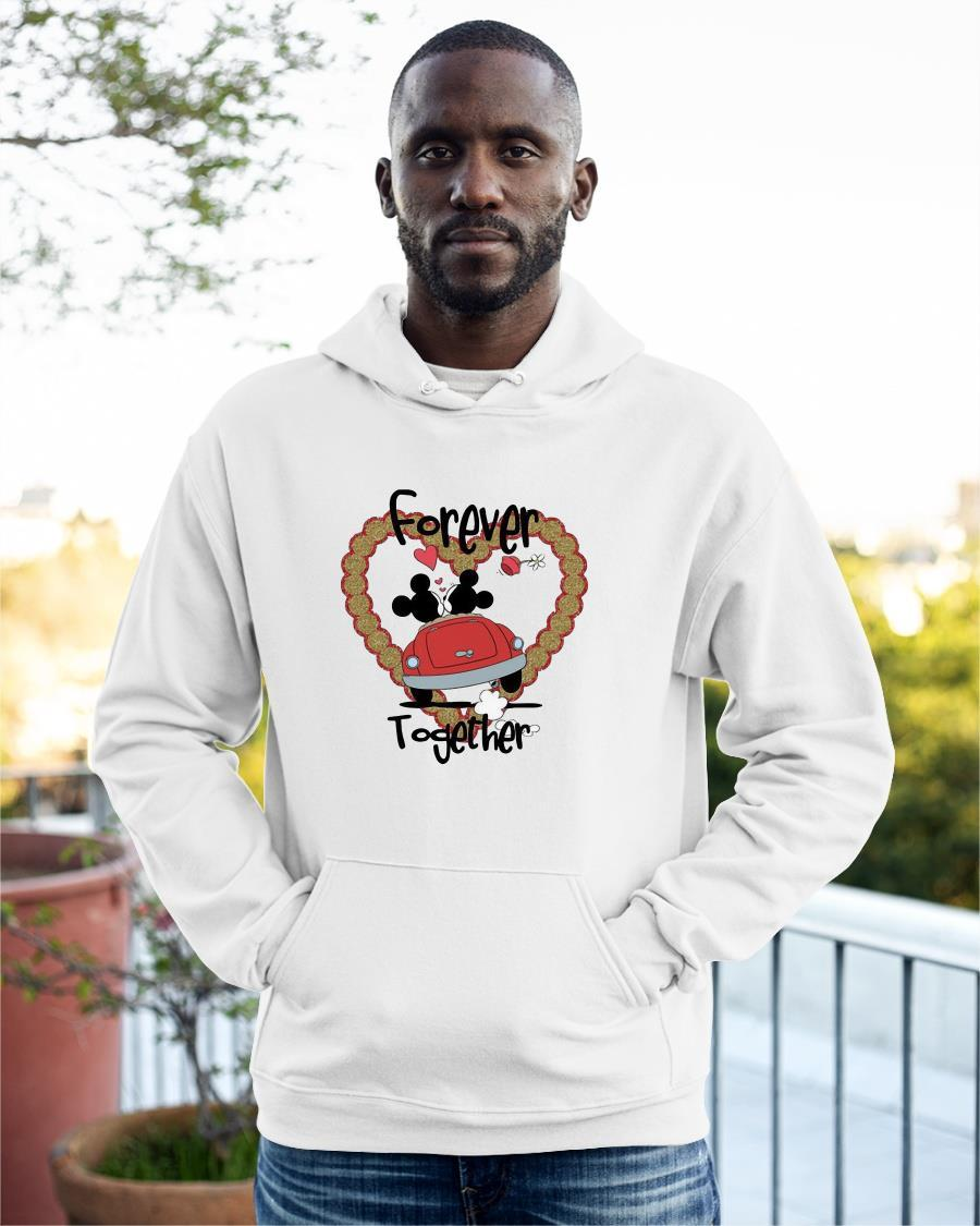 Valentine Day Mickey Mouse And Minnie Mouse Forever Together Hoodie