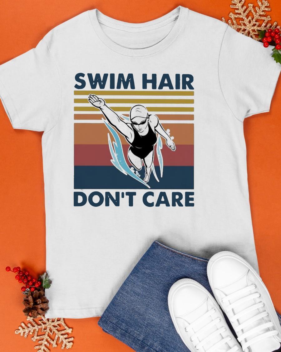 Vintage Swim Hair Don't Care Shirt