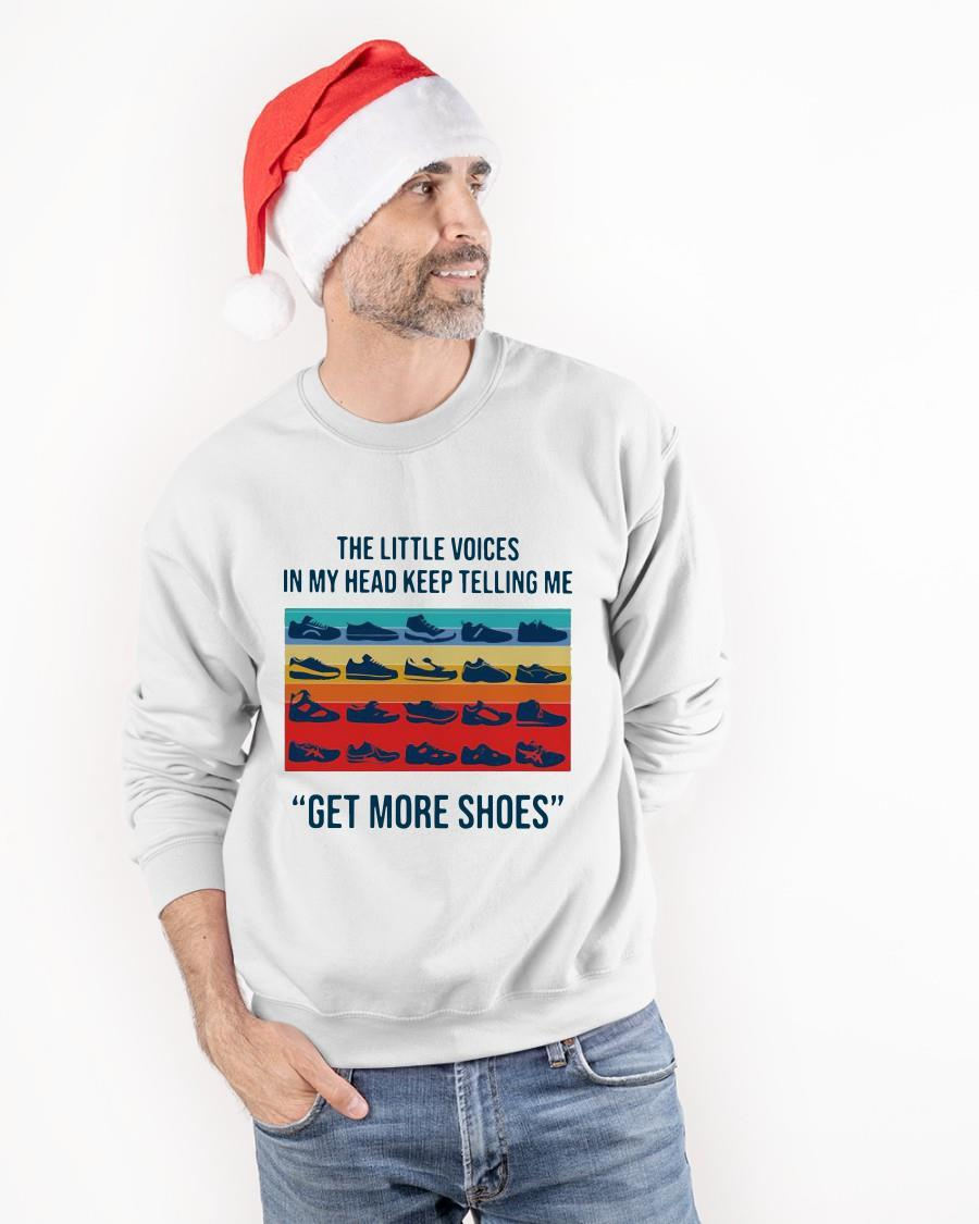 Vintage The Little Voices In My Head Keep Telling Me Get More Shoes Sweater