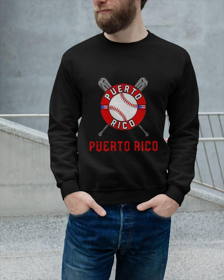 Baseball And Flag Puerto Rico Sweater